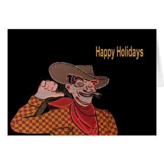 Vic från Vegas något att säga, glad helgkort Hälsnings Kort