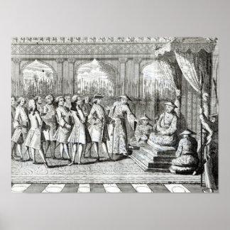 Viceroyen av cantonen som ger åhörare poster