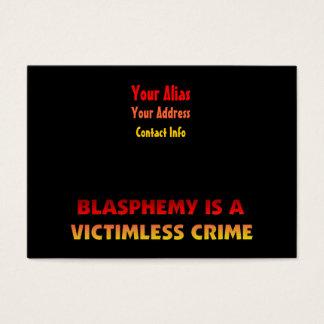 Victimless brott för hädelse visitkort