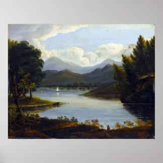Victor de Grailly Hudson River plats Poster
