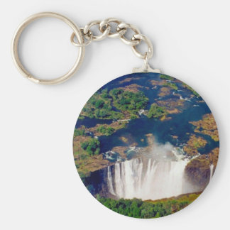 Victoria Falls antenn Rund Nyckelring