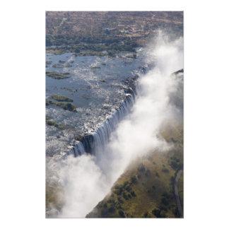 Victoria Falls Zambesi flod, Zambia - Foto