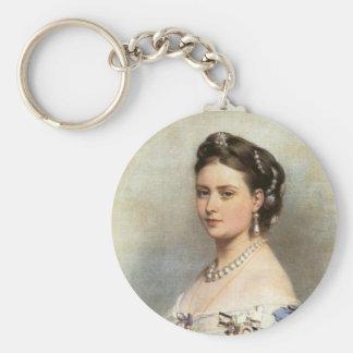 Victoria princessen royal rund nyckelring