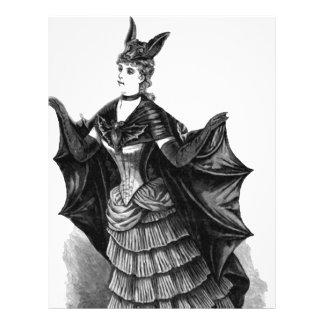 Victorian/gotisk Batgirl/fladdermössdräkt Brevhuvud