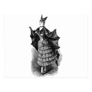 Victorian/gotisk Batgirl/fladdermössdräkt Vykort