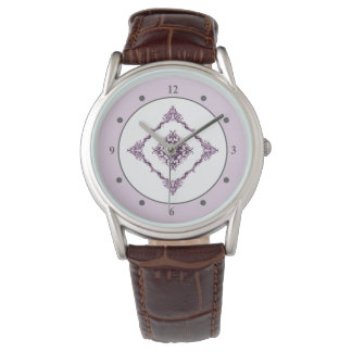 Victorian inspirerad purpurfärgad armbandsur
