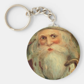Victorian Santa på en nyckelring