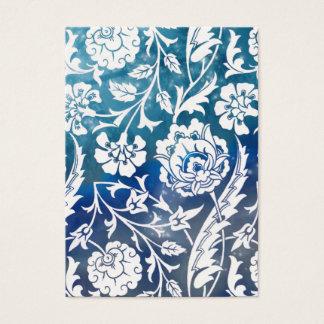 VictorianArabesque, DAM CIARA - blått & vit Visitkort