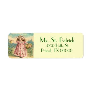 VictorianbarnSts Patrick etikett för returadress Returadress Etikett