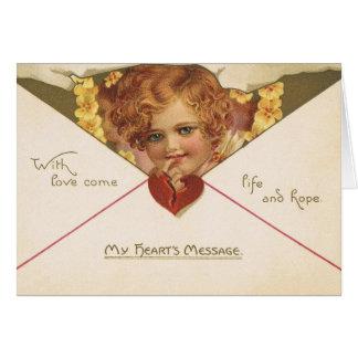 VictorianCherubvalentin kort för dag