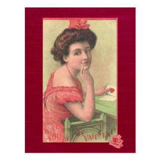 Victorianen som damen ska dig, är min vykort