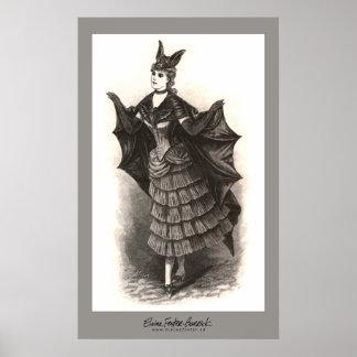 Victorianfladdermöss - tryck #1
