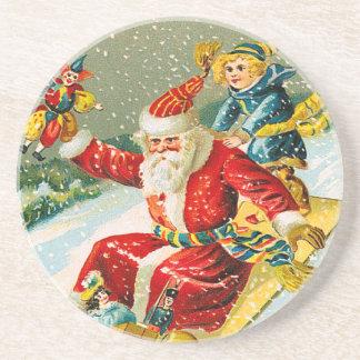 Victorianjul Santa Underlägg Sandsten