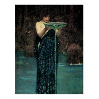 Victoriankonst, Circe Invidiosa vid waterhousen Vykort