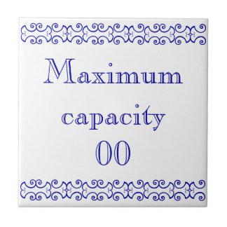 Victorianmaximat kapacitet undertecknar liten kakelplatta
