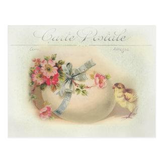 Victorianpåskchic och ägg vykort