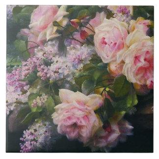 Victorianro och lilor kakelplatta