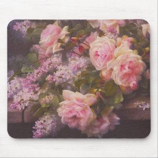 Victorianro och lilor musmatta