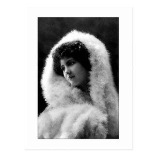 Victorianskönhet med cameoen poserar vykort