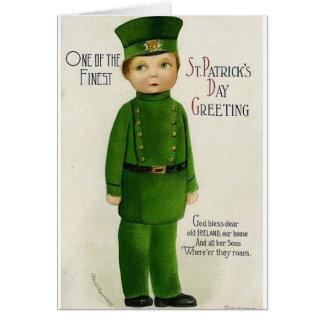 VictorianSon av det Irland St Patrick dagkortet Hälsningskort
