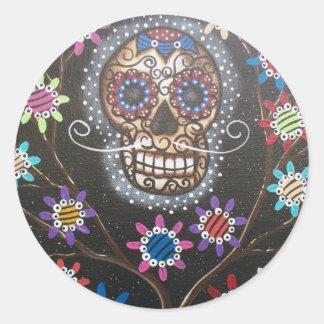 Vid den Lori Everett_ day of the dead mexikan, Runt Klistermärke