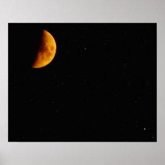 Vid det ljust av månen poster