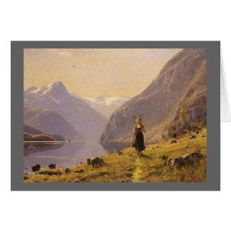 Vid fjorden (norrman) vid Hans Dahl Hälsningskort