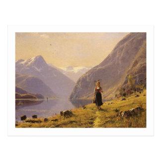 Vid fjorden (norrman) vid Hans Dahl Vykort