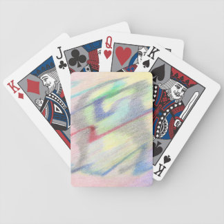 Vid för sjösida för abstraktcykel Colorfully Spel Kort