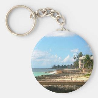 Vid hav rund nyckelring