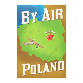 Vid luft till Polen resa affischen Canvastryck