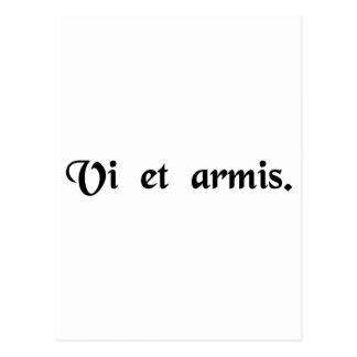 Vid styrka och armar vykort