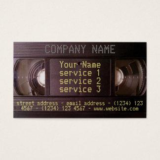 Video ljudsignal affär för Retro techVHS-visitkort Visitkort