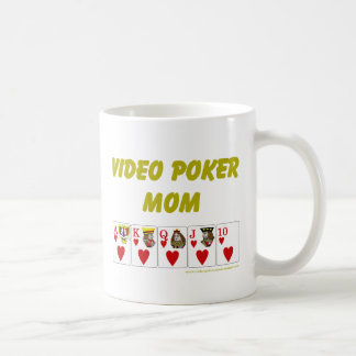 Video poker: video pokermammahjärta kaffemugg