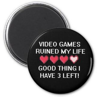 Videospel fördärvade min livstil 1 magnet rund 5.7 cm