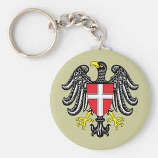 vienna Österrike Rund Nyckelring