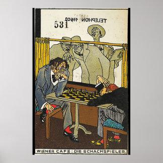 Viennese Café: Schackspelarna (wieneren Café: Poster