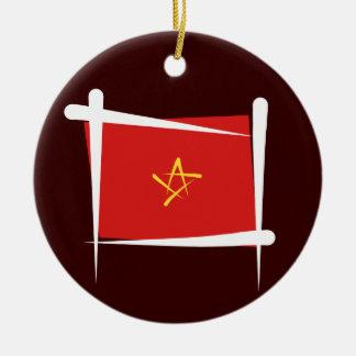 Vietnam borstar flagga julgransprydnad keramik