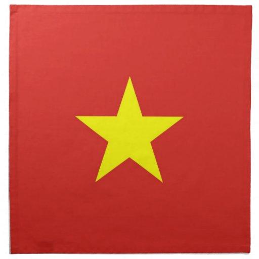 Vietnam flagga på den MoJo servetten Näsduk