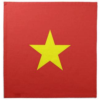 Vietnam flagga på den MoJo servetten Tygservett