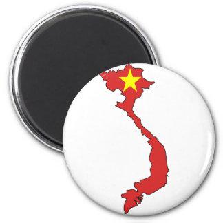 Vietnam flaggakarta magnet rund 5.7 cm