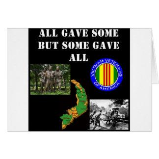 Vietnam minne hälsningskort