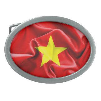 Vietnam texturerade flagga som det ovala bältet