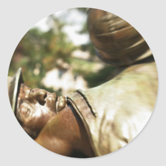 Vietnam veteran minnesmärke runt klistermärke