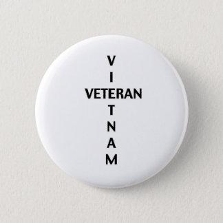 Vietnam veterankor (knäppas), standard knapp rund 5.7 cm
