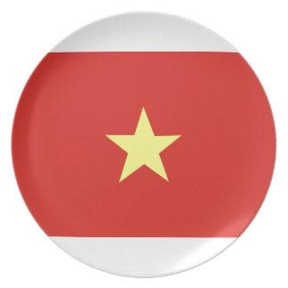Vietnamesisk flagga tallrik