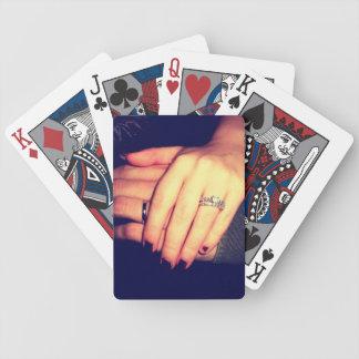 Vigselringar: Leka kort Spelkort