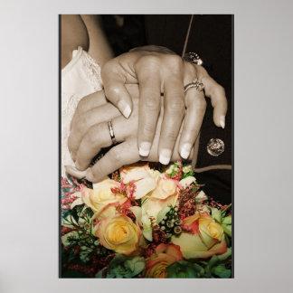 vigselringar w/flowers poster
