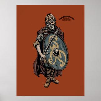 Viking ålderkung av danesna affisch