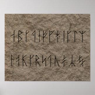 Viking alfabet affischer